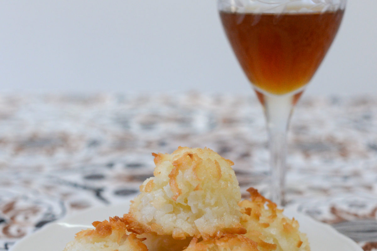coconut macaroons and liqueur